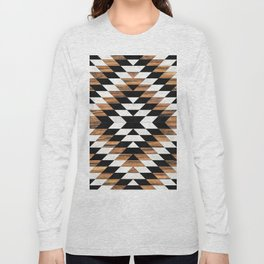 Urban Tribal Pattern No.13 - Aztec - Concrete and Wood Long Sleeve T-shirt