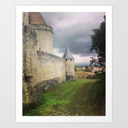 Carcassonne castle Art Print