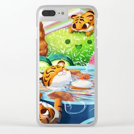 Tiny Hungry Cats Clear iPhone Case