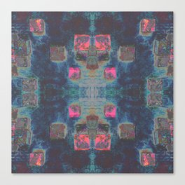 Toppled Ceramic Tiling Infared Style Canvas Print