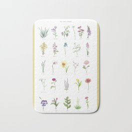 The Plant Alphabet Bath Mat