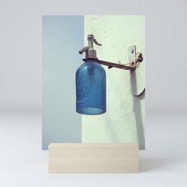 Lantern with a blue soda siphon design | Small Village Decoration | Fine Art Photography Mini Art Print