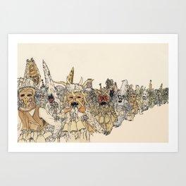 Koukeri (Mummers) Art Print