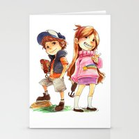 gravity falls Stationery Cards featuring Gravity Falls by Archiri Usagi