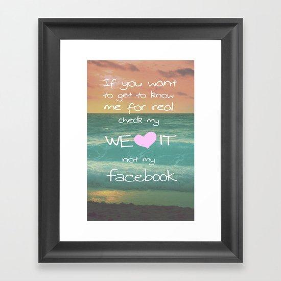 LOVE WE*HEART*IT Framed Art Print