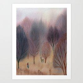 November Woods Art Print