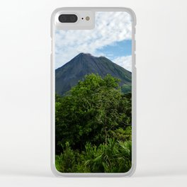 Arenal Volcano Costa Rica Clear iPhone Case