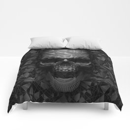 Geometric Skull Comforters