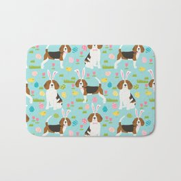 Beagle easter spring bunny eggs dog breed gifts for pure breed pet lover beagles Bath Mat