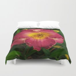 Sis Boom Bah daylily! A world of rose and gold Duvet Cover