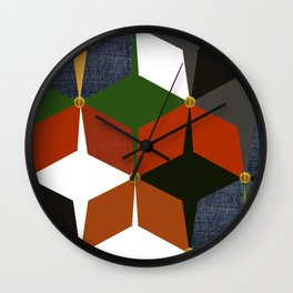 KALEIDOSCOPE 06 #HARLEQUIN Wall Clock