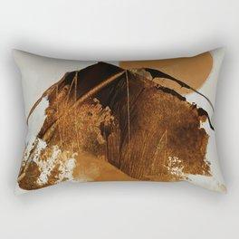 abstract mountains, rustic orange sunrise Rectangular Pillow