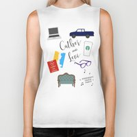 levi Biker Tanks featuring Cather and Levi by Book Spectacle