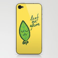 The introvert leaf iPhone & iPod Skin