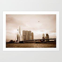 The Erasmus Bridge Art Print
