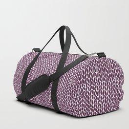 Hand Knit Plum Duffle Bag
