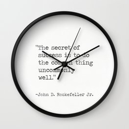 John D. Rockefeller Jr. quote Wall Clock