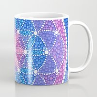 flower of life Mugs featuring Starry Flower of Life by Elspeth McLean
