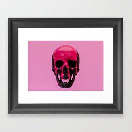 Pink Dripping Skull Framed Art Print