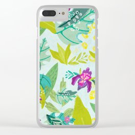 Tropical Retreat Clear iPhone Case