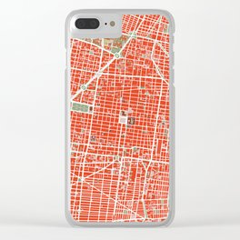 Mexico city map classic Clear iPhone Case