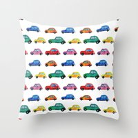 italian Throw Pillows featuring Italian cars  by Katerina Izotova Art Lab