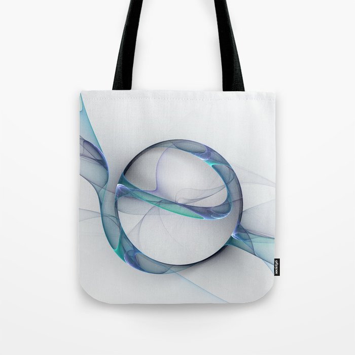 Minimalist Abstract, Fractal Art Tote Bag