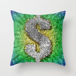 Dollar Sign Pop Art Throw Pillow