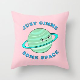 Just Gimme Some Space - Pink & Green Throw Pillow