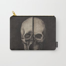 STUDY OF HUMAN SKULL (INSPIRED BY LEONARDO DA VINCI) Carry-All Pouch