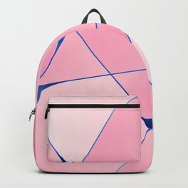 Pink Posh geometric pattern for home decoration Backpack