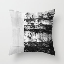 Black and White Abstract No. 0582 Throw Pillow