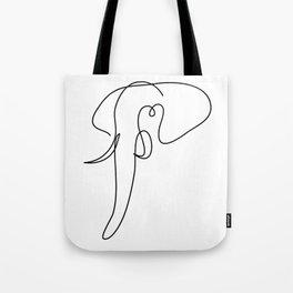 hubris - one line elephant art Tote Bag