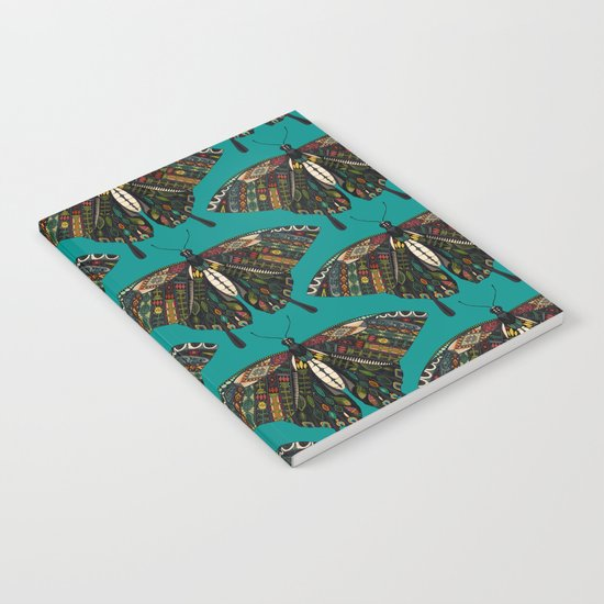 swallowtail butterfly teal Notebook