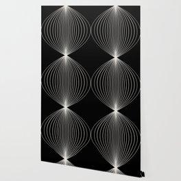 Geometric Orb Pattern XII Black & White Wallpaper