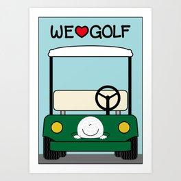 WE♥GOLF Art Print