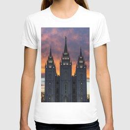 LDS Salt Lake Temple Square Sunset T-shirt