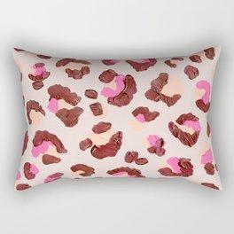 Leopard Print – Pink & Mauve Palette Rectangular Pillow