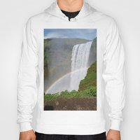 iceland Hoodies featuring Skogafoss Iceland by seraphina