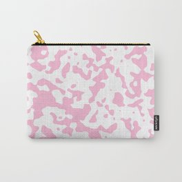 Spots - White and Cotton Candy Pink Carry-All Pouch