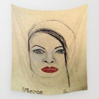 fierce Wall Tapestries featuring Fierce by Darla Designs