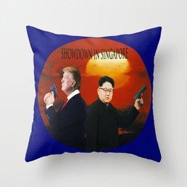 Showdown in Singapore Throw Pillow