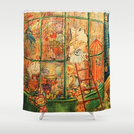 The Puppet Store Shower Curtain