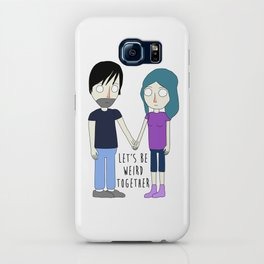 Let's Be Weird Together iPhone Case