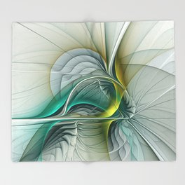 Fractal Evolution, Abstract Art Graphic Throw Blanket