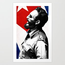 Fidel Castro Art Print