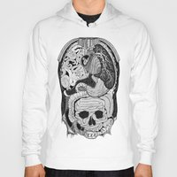 anatomy Hoodies featuring Gross Anatomy by Chris Varnum