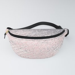 Pink Pastel and Grey Background Fanny Pack