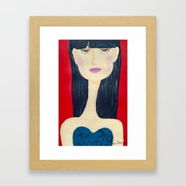 Mei with the Long Neck Framed Art Print