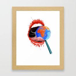 Global consumption Framed Art Print